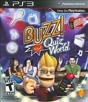 Buzz! Quiz World Playstation 3 PS3 Video Game Complete
