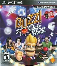 Buzz Quiz World (Sony PlayStation 3, 2009) DISC IS MINT - GAME ONLY