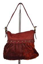 Falto A Mano By Carlos Falchi Womens Red Shoulderbag Sz L Textured Purse Handbag