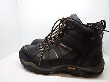 Hyena Valley Black Leather Steel Toe Vibram Sole Safety Boots SZ 9 EU 43 -AA218