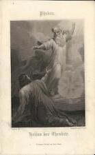 Stampa antica PYRKER Helias der Thesbite 1860 Old antique print Alte stich