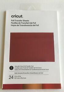 Cricut Foil Transfer Sheets Sampler - 24 sheets ~ Ruby Sampler ~ New!