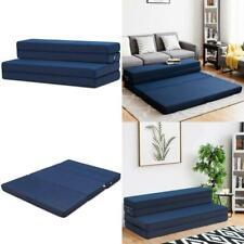 5 ft Quart Folding Futon Sleepover Queen Size Sofa Bed Lightweight Foam Mattress