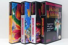 Dragon Warrior 1, 2, 3, 4, II, III, IV - NES Custom Case Set - NO GAMES INCLUDED