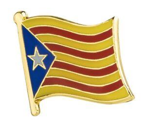 Catalonia Lapel Pin 19mm x 16mm Hat Tie Tack Badge Pin Free Shipping