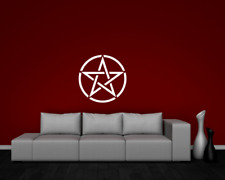Wandtattoo Pentagramm  25 Farben 4 Größen Wandaufkleber Wandsticker Symbol