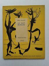 """Paul COLINET """" La nuit blanche """" E.O. 1/25 Hors Commerce, Fontaine 1945"""