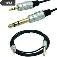 6.35mm to 3.5mm Cable Adapter 1.5m Male TRS Stereo Audio Jack Plug Wire Cord