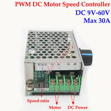 Digital LED DC 6V-60V 12V 24V 36V 48V 30A PWM DC Motor Speed Controller Switch