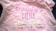 "Baby girls peach ""Daddy's little sweethear"" tunic long top by Nutmeg 0-3 months"