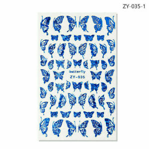 Nail Stickers Butterfly Flower Art DIY Waterproof Adhesive Transfer Decal Acces