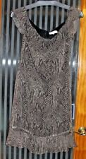 SIZE 6 HARLOW SHADES OF BROWN DRESS