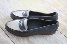 Vtg Bass Weejuns Women's Blue & Gray Suede Loafers Size 7.5 M; Medium