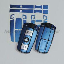 1B_Schlüssel-Dekor Aufkleber BMW 1er 3er 5er 6er Z4 X1 X5 M blau metallic matt