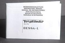 Voigtlander Bessa L Camera Instruction Book / Manual / User Guide #2
