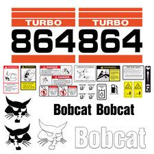 Bobcat 864 Turbo Skid Steer Set Vinyl Decal Sticker 25 Pc