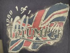 Lucky Brand Mens Triumph Motorcycle Classic Fit Graphic Print T-shirt  M