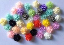 50 mixed flowers  10mm x 10mm  resin  Flatbacks  Embellishments crafts