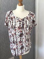 Tu Size 16 Cotton/modal Short Sleeved Top