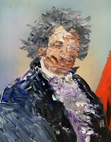 Abstract Portrait Beethoven Classic Music Painting Knife Fine Wall Art Print