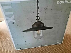 'NEW' NORDLUX LUXEMBOURG OUTDOOR PENDANT LIGHT - WEATHERED BROWN FINISH