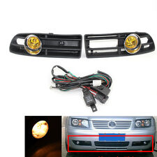 Clear Car BUMPER GRILLE FOG LIGHT FOR VW JETTA BORA 99-04 Yellow Lens