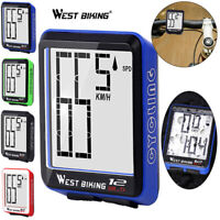 Wireless MTB Mountain Road Bike Cycling Computer Speedometer Odometer Stopwatch