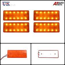 4 piezas 12v 12 LED PARTE DELANTERA TRASERO Ámbar Naranja Luces de marcaje