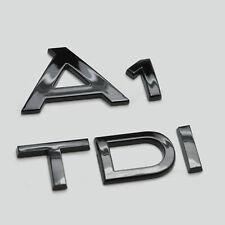 Noir Brillant A1 Caract/ères Nombres Lettres Arri/ère Couvercle de Coffre Badge Embl/ème Compatible Pour A1 Mod/èles