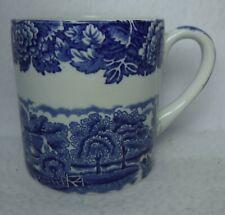 "WOOD & SONS china ENGLISH SCENERY Blue Mug - 3-1/4"""
