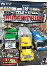 18 Wheels of Steel: Big City Rigs (PC DVD ROM, 2009) NEW#