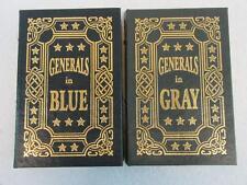Lot of 2 Ezra Warner GENERALS IN BLUE GRAY 2 Vol Set Easton Press 2006 Leather
