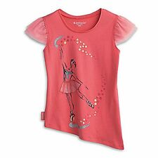 American Girl CL LE ISABELLE TEE SIZE XS (6) for Girls Pink Coral Shirt NEW