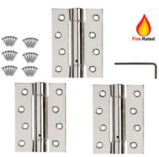 3 X DOOR HINGES FIRE RATED Self Closing Single Action Adjustable Spring  CHROME