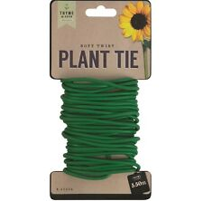 5.5m Garden Thick Soft Twist Plant Support Tie Coated Wire Durable Reusable Wire