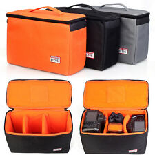 Waterproof DSLR Camera Bag Insert Handbag Padded Partition Carry Case Pouch New