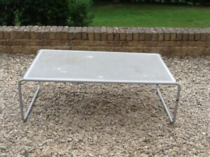 80's Vintage / Retro Habitat Grey Metal Table
