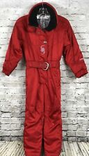 Spyder Picabo Street Girls Ski suit Snowsuit One Piece Red Jacket Pants Size 8