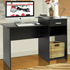 Computer Desk Study Work Home Office Workstation PC Laptop Table Furniture Black