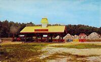 MD Ocean City FRONTIER TOWN 1959-64 Amusement Park STEAM TRAIN postcard AM1