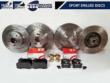 FOR RENAULT CLIO SPORT 197 200 F1 FRONT REAR DRILLED BRAKE DISCS BREMBO PADS