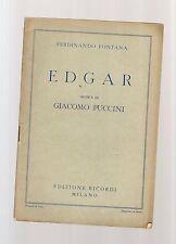 edgar - giacomo puccini - libretto operistico del 1905