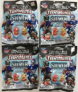LOT OF 4 FACTORY SEALED PACKS OF NFL TEENYMATES SERIES 9 BRAND NEW FOR 2020