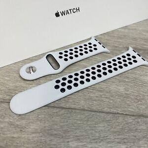 Genuine Apple x Nike Watch Sport Band - Black / Pure Platinum 42mm/44mm M/L