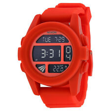 Nixon The Unit Orange Rubber Digital Mens Watch A1971156