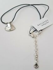 Silpada you've Got Heart Sterling Silver Pendant with Black Leather Necklace