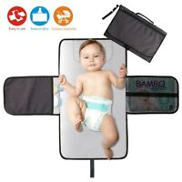Baby Diaper Changing Pad Portable Travel Diaper Clutch Station Changer Mat Gray