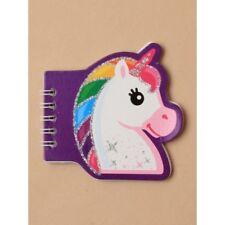 Children's Glitter unicorn spiral notebook. gift loot bag party stocking filler