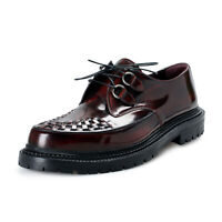 "Burberry Men's ""Brothel Creepers"" Burgundy Leather Oxfords Shoes sz 11 12"