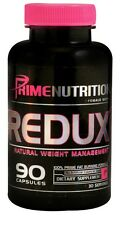 Prime Nutrition REDUX Natural Fat Burner ENERGY Focus Weight Loss 90 ct EXP 2/17